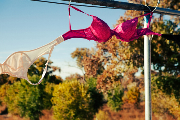 Editorial - Bras Across the Bosque -Breast Cancer Awareness Month, Albuquerque, New Mexico