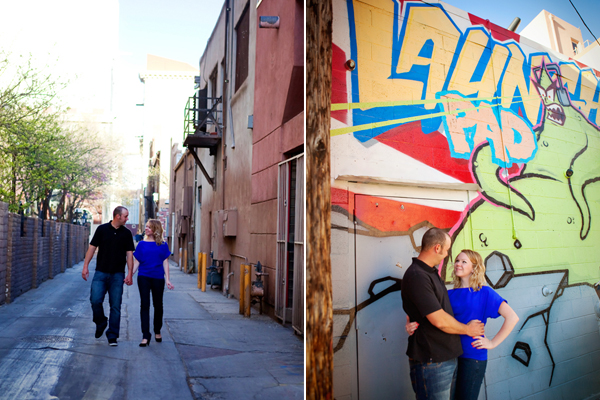 Downtown Engagement Photos. Albuquerque, New Mexico